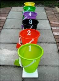 Bean Bag Bucket Toss For Prizes