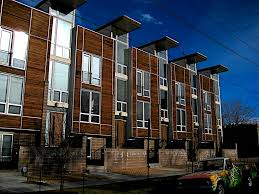 100 Three Story Houses Dark Wood Facade On Post Modern Row In Flickr