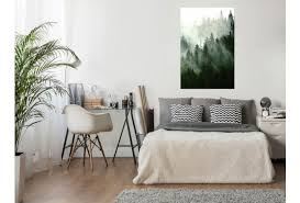 wandposter coniferous forest poster