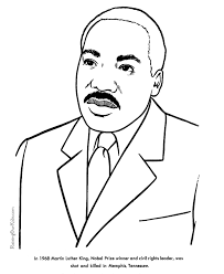 Martin Luther King Jr Printable Coloring Sheets