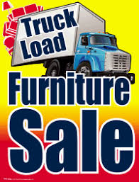 Plastic Window Sign Truckload Furniture Sale