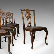 Set Of Six Antique Dining Chairs, Victorian, Chippendale Revival ... Tiger Oak Fniture Antique 1900 S Tiger Oak Round Pedestal With Ding Chairs French Gothic Set 6 Wood Leather 4 Victorian Pressed Spindle Back Circa Room 1900s For Sale At Pamono Antique Ding Chairs Of Eight Chippendale Style Mahogany 10 Arts Crafts Seats C1900 Glagow Antiques Atlas Edwardian Queen Anne Revival Table 8 Early Sets 001940s Extendable With Ball Claw Feet Idenfication Guide