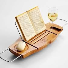 Bamboo Bathtub Caddy With Reading Rack by 17 Bath Caddy With Reading Rack Amazon Com Umbra Aquala