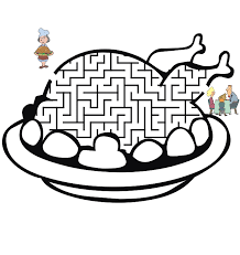 Thanksgiving Maze Help Get The Turkey To Table