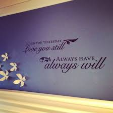 above head board in bedroom wall decal from hobby lobby flowers