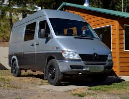 DIY Sprinter Camper Van Exterior Showing Two Tone Custom Paint Photo 3Up