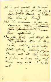 Walt Whitman Poetry Manuscripts Live Oak With Moss The Growing Room