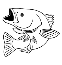 Good Coloring Pages Bass Fish Detail Description