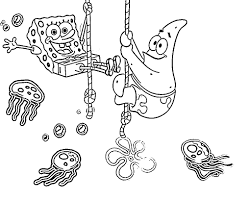Spongebob Jellyfish Coloring Pages For Colored