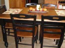 tile top dining table with leaf tile top kitchen table makeover