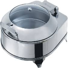 Chafing Dish AT51293 Round Chafer With PC Lid Frame SizeL440 W480 H260 Capacity 5 LTR
