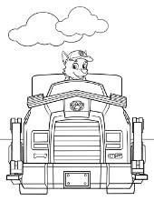 Yumi Coloring Sheet Paw Patrol Chase In His Vehicle
