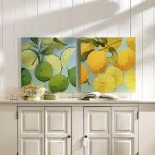 Set Of 2 Fresh Limes Lemons Prints Martha Negley Ballard Designs