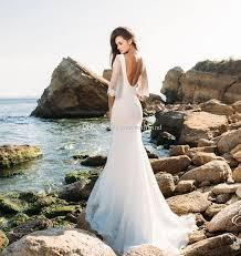3 4 Long Sleeves Lace Beach Wedding Dresses 2018 Eva Lendal Bridal V