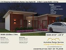 104 Shipping Container Homes For Sale Australia 2 Bed Home N And Usa Concept Plans Blueprints Full Architectural Concept Home Plans Includes Detailed Floor Plans Ship Book 68