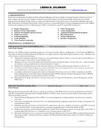 Project Manager Resume Templates 74 Images Sample Career Management Template
