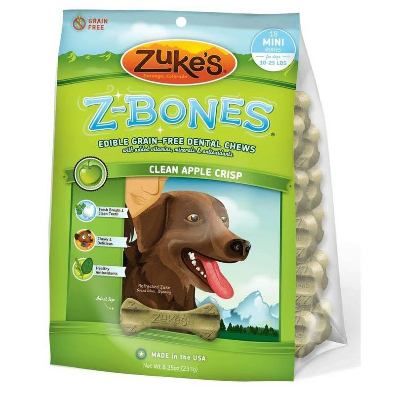 Zuke's Z-Bones Dog Dental Chews - Clean Apple Crisp