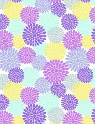 Flower Scrapbook Paper Throughout Free Printable Pertaining To Designs Purple