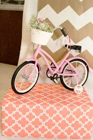 Pink And Gold Birthday Themes by Coral Mint Pink And Gold Chevron Party Bicycle Party