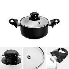 batterie cuisine en batterie de cuisine en aluminium et revêtement en céramique tectake