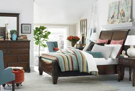 Highlands Sleigh Bed by Bassett Furniture Contemporary Bedroom