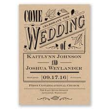 Rustic Wedding Invitations Big Celebration Invitation