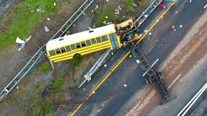 Photos From The Scene After A Fatal Crash Between A School Bus And ... Investigators Probe Cause Of School Bus Crash That Killed 2 Naples Nj Transit Bus Driver Killed After Headon Crash With Garbage Truck Truck Crashed Into A Wooded Area Goffle Brook Park In New Jersey Police 3 Seriously Injured In Woman Struck By Dump Union Citytuesday Morning 1 Cop Dead Injured After Headon Nyc The Morning Call Hurt On Route 70 Pemberton Twp Two 43 Torn Apart Tanker Accident Turnpike Dozens When Collides With