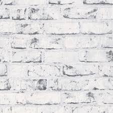 Grey White 9078 37 Brick Effect Distressed A S Creation Wallpaper