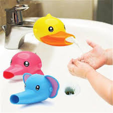 1 stücke wasserhahn extender für kinder kid waschen in waschbecken elefanten delphin ente bad accessoires warmen