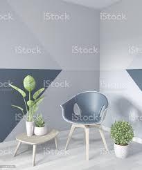 ideen wohnzimmer blau geometrische wand kunst farbe design farbe voller stil auf holzboden3d rendering stockfoto und mehr bilder architektur
