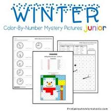 Winter Telling Time Color By Number