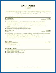 Resume Template Picture Professional Experience Of John Smith Year Address Education Additional Skills References Highlight Job