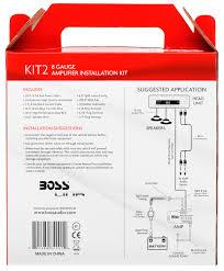 Amazon BOSS Audio KIT2 8 Gauge Amplifier Installation Wiring