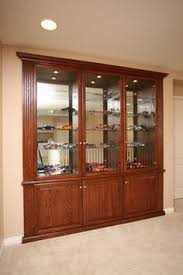 Pacific Coast Custom Design Built In Niches Display Cabinet Lights