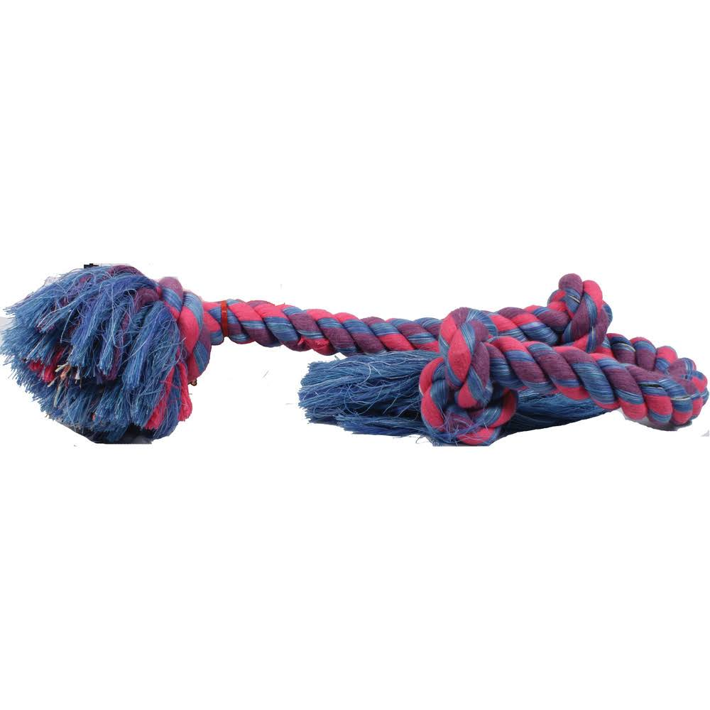 Prestige Pet Flossy Chews 3 Knot Tugs Dog Toy - X-Large, 91cm