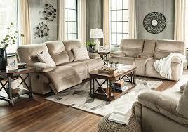 Badcock Living Room Sets by Brayburn Beige Reclining Sofa U0026 Console Loveseat Badcock Home