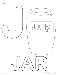 Uppercase Letter J Coloring Page