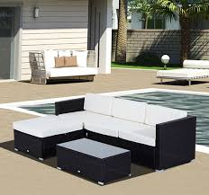 Ebay Rattan Patio Sets by Outsunny 6pc Rattan Wicker Patio Sofa Set Sectional Garden Yard