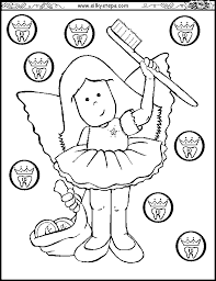 Girl Tooth Fairy Colouring Picture