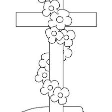 Cross At Funeral Coloring Page