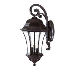 acclaim lighting waverly collection 3 light matte black outdoor