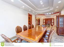 Luxury Bright Mansion Dining Room Interior Design Stock ...