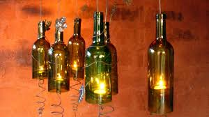 Decorative Wine Bottles Ideas by Recycled Wine Bottles Made Into A Hurricane Candle Holder Diy