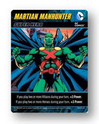 dc comics deck building game martian manhunter promo board game