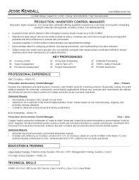 Inventory Management Cv Examples Warehouse Resume Samples