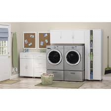 White Storage Cabinets At Home Depot by Systembuild Kendall White Storage Cabinet 7365401pcom The Home Depot