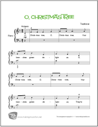 O Christmas Tree For Beginner Piano Solo