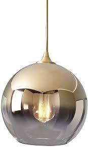 lxhk modern glas hängele gold e27 kugel pendelleuchte