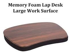 sofia sam oversized memory foam lap desk black