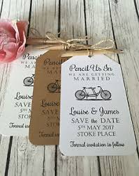 Image Is Loading Pencil Us In Vintage Rustic Wedding Save The